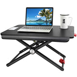 HNSSD3 Height Adjustable Sit Stand Desk Converter for Laptops or Notebooks Up to 17 Inches