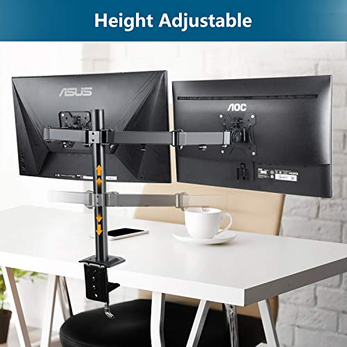 HNAVCM7 Dual Monitor Stand for Two 13-27 Inch Screens