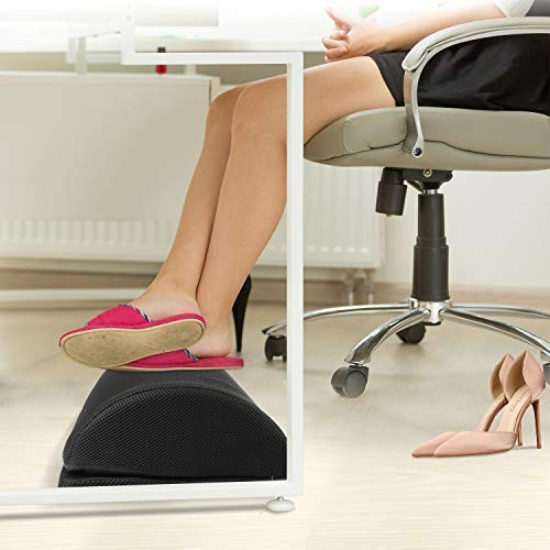HNFR2 Adjustable Foot Rest Under Desk Soft