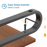 HNLL4 Monitor Stand Riser with Wood Grain Platform