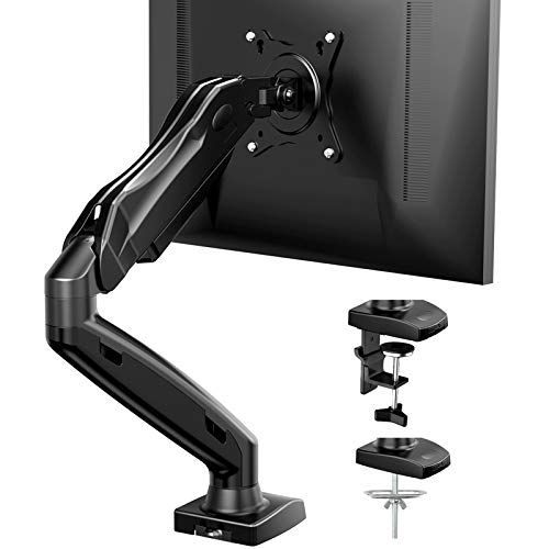 HNSS6 Gas Spring Single Monitor Arm Mount for 17-27 Inch