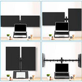 HNCM17 Laptop Tray Fit Two 13 to 27 Inch Flat Curved Computer Screens and 10 to 17 Inch Notebooks
