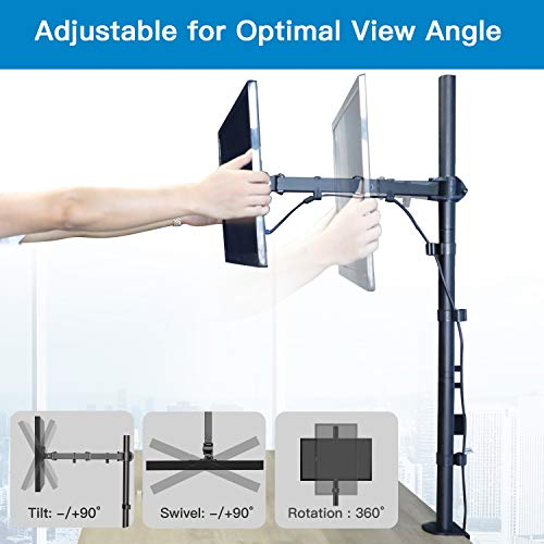 HNCM9 Single Monitor Stand Desk Mount for 13-32 Inch