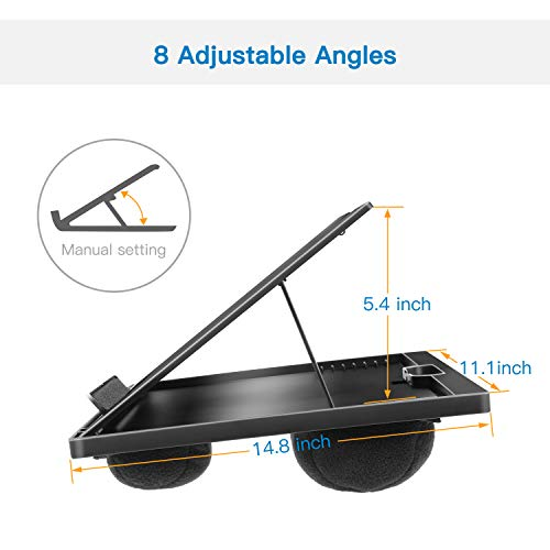 HNLD2 Adjustable Lap Desk with 8 Tilt Angles