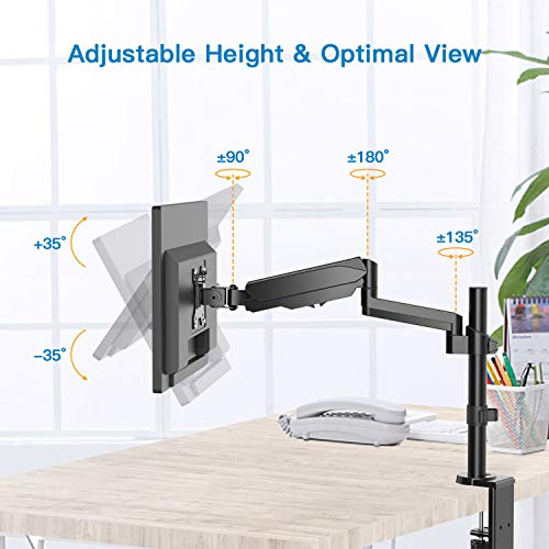 HNSSK1 Gas Spring Monitor Mount Stand for LCD LED Screens Up to 32 Inch