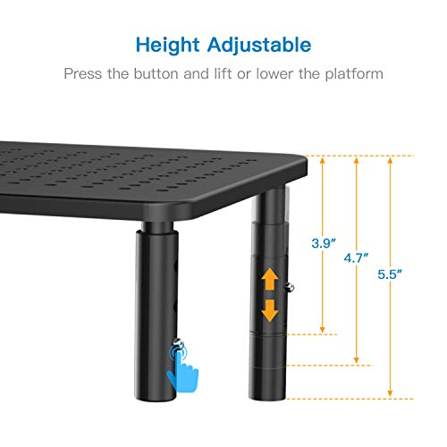 HNLL3-0 Monitor Metal Stand Riser with Airflow Holes