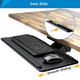 "HNKB04 Under Desk Adjustable Keyboard Tray, 26"" x 9.6"", Black"