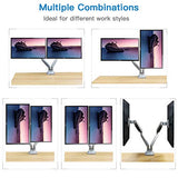 HNDSK3 Aluminum Dual Monitor Stand Gas Spring Arm for 13-32 Inch Screens