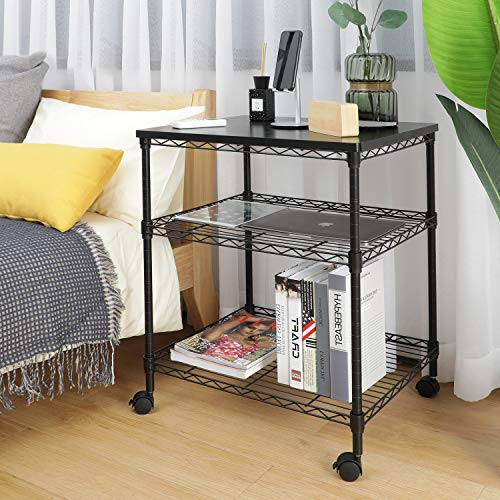 HNPS01 Printer Stand - 3 Tier Printer Cart for Storage Holds up to 200 lbs