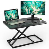 HNSSD4 Sit to Stand Desk 28.5 inches Height Adjustable for Laptop & Computer Monitors