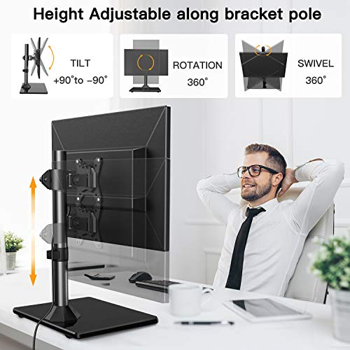 HNCM11 Swivel Universal Single Monitor Stand Riser for 13-32 inch Screen