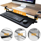 "HNKB02 Under Desk Large Keyboard Tray 26.4""x 11.8"" for Typing and Mouse Work"