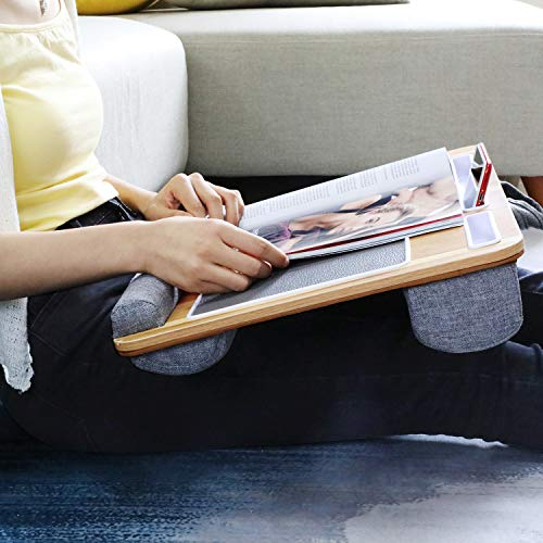 HNLD3 Wood Lap Desk with Dual Bolster Cushions