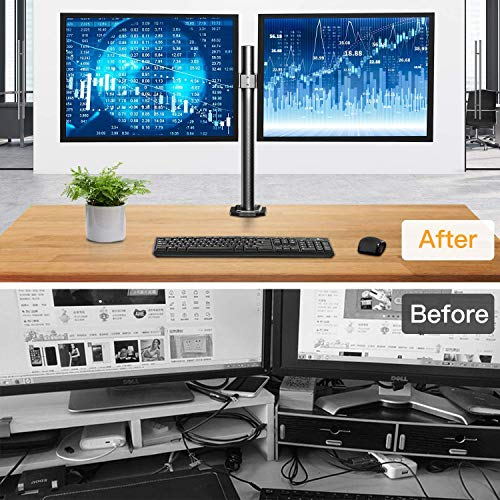 HNCM7 Dual Monitor Stand Mount  for 13 -27 inch  Screen