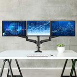 HNTS3B Triple Monitor Stand Fit Three 17 to 32 inch Flat/Curved Computer Screens