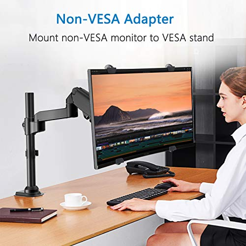 HNMUA4 Universal VESA Mount Adapter Kit, Non-VESA Adapter for 17 to 32 Inch Monitor