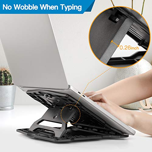 HNLR3 Adjustable Laptop Stand with 360° Swivel Base 7 Angles