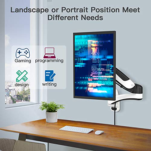 HNWSS2 Single Arm Wall Mount Monitor Stand  fits 15-27 Inch LCD Screens