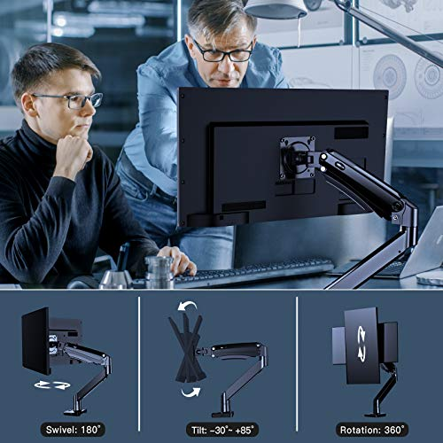 HNSS12 Monitor Mount Stand - Full Motion Monitor Mount for 22 to 35 Inch Computer Screens