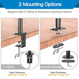 HNCM12 Single Monitor Mount with Pole for 13-32 inch Screen
