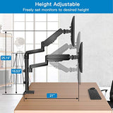 HNDSK2 Dual Arm Monitor Stand Adjustable Height for 17-32 Inch Screens