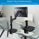 HNDA1 Steel Monitor Mount Reinforcement Plate for Thin, Glass and Other Fragile Tabletop
