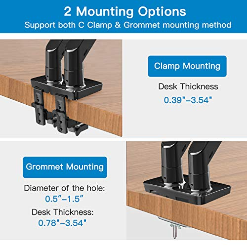 HNDS7 Dual Monitor Arm Desk Mount for 22-32 Inch Screens