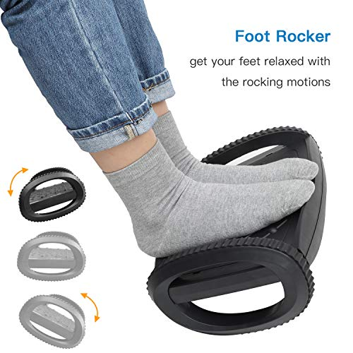 HNFR1 Ergonomic Footrest with 2 Adjustable Heights & Feet Support Rocker