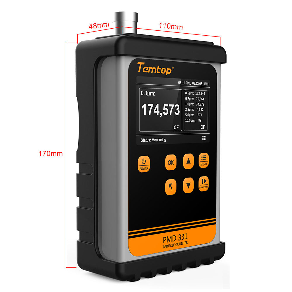Temtop PMD 331 Air Quality Handheld Particle Counter 7 Channels