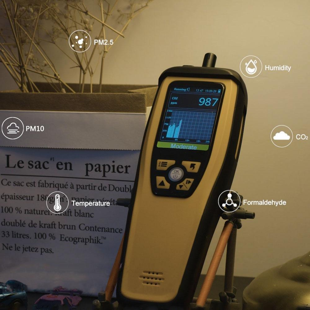 Temtop M2000 CO2 Air Quality Detector HCHO/CO2/PM2.5/PM10/Particles - Temtop