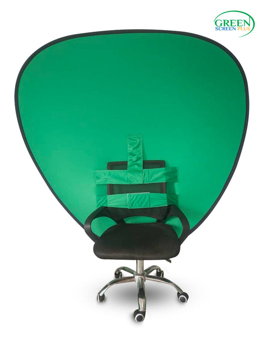 V-Shaped 2 in 1 Collapsible Blue and Green Screen Backdrop Background For Chair