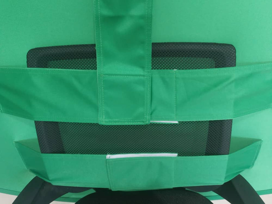 V-Shape Collapsible Green Screen Backdrop Background For Chair