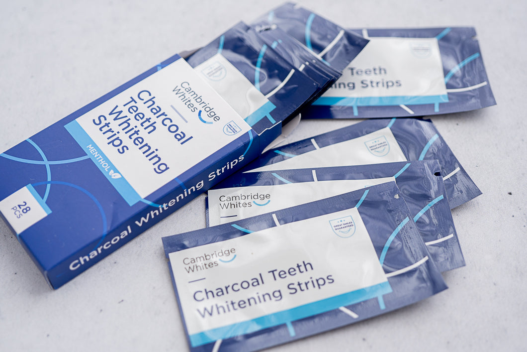 Cambridge Whites - Charcoal Teeth Whitening Strips - 28 pcs