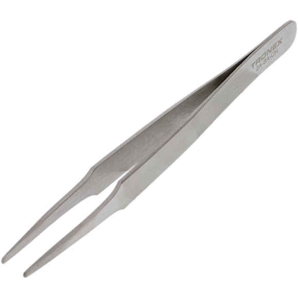 Tweezers – Tronex 2A SS Striaght Tapered Blunt Tips • 2A-SA-CH