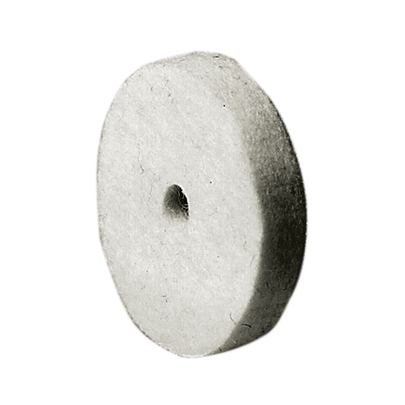 "Felt Buff, 2"" dia. With 1/4"" Arbor Hole"