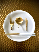 Load image into Gallery viewer, GOLD TO GO - PORTABLE LUXURY CUTLERY (3 colors) FREE SHIPPING USA Select BLACK, WHITE, or PINK.