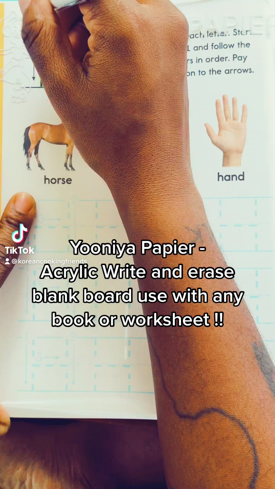 YOONIYA PAPIER REWRITABLE ACRYLIC TABLET