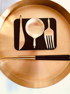 GOLD TO GO - PORTABLE LUXURY CUTLERY (3 colors) FREE SHIPPING USA Select BLACK, WHITE, or PINK.