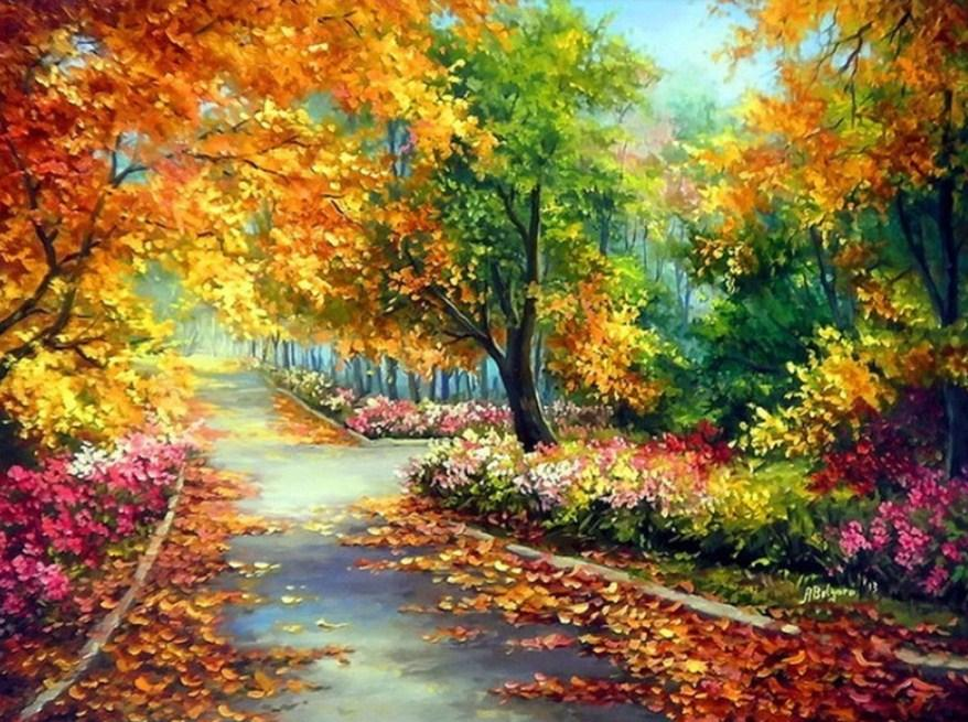 Autumn Pathway Diamond Painting Kit