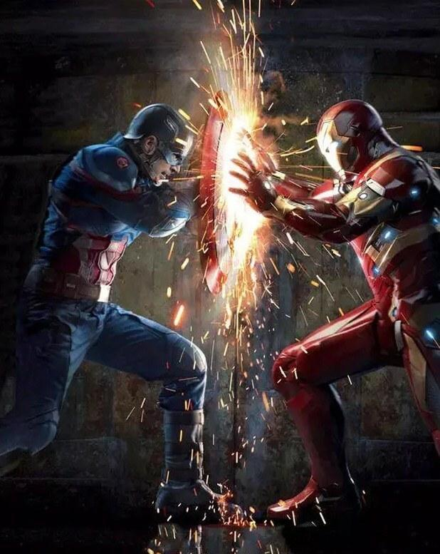 Captain America & Iron Man - Diamond Painting Deutschland