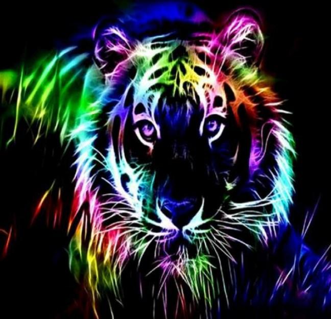 Colorful Neon Tiger Diamond Painting Kit