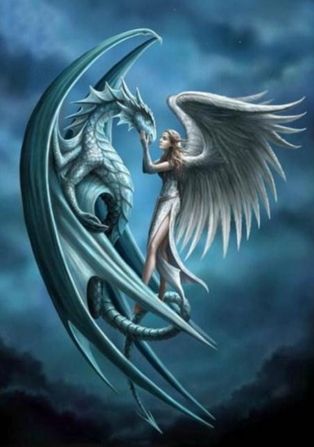 Dragon & Angel Paint by Diamonds