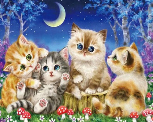Happy Cats Paint by Diamonds