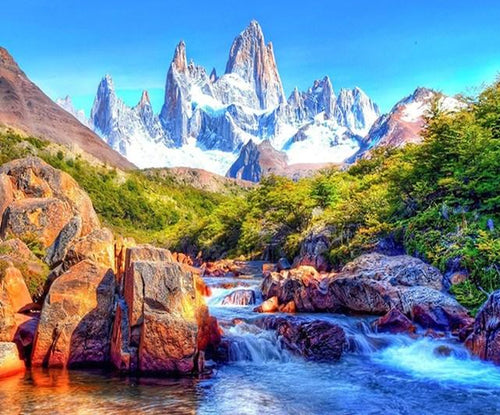 Monte Fitz Roy Paint by Diamonds