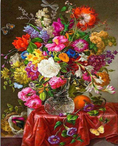 Bunte Blumen-Sammlung DIY Diamond Painting - Diamond Painting Deutschland