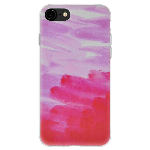 Soft Gel TPU Soft Skin Case Abstract Pink for iPhone 6 - Clear
