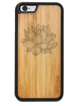 Slim Wooden Phone Case | Yoga Lotus