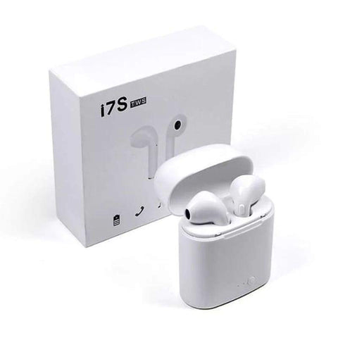 i7 TWS Wireless Earpiece Bluetooth 5.0 - White Color