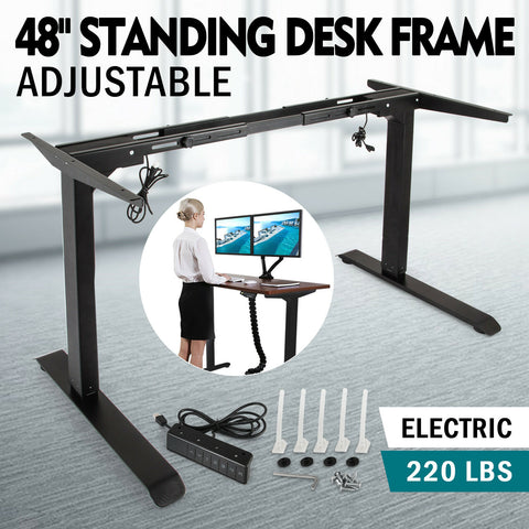 Electric Stand Up Desk Frame w/Dual Motor Height Adjustable Standing Base