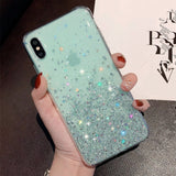 Glitter Sequin Soft Case For iPhone XR X XS Max 6 6S 7 Plus 8 Plus iphone11 11 pro max Bling stars Cover 12 Pro max